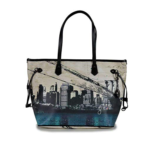 YNOT MAT-319F0 Shopping Bag matras, NEW YORK, handtas voor dames, 46,5 x 29 x 17 (B x H x L)