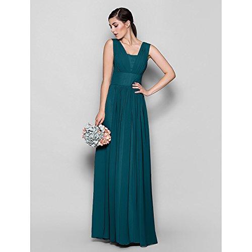 kekafu A-Line Schatz asymmetrische Brautjungfer Chiffon Kleid mit Perlenstickerei Raffung durch LAN TING Braut, Tinte blau, US2/UK6/EU32