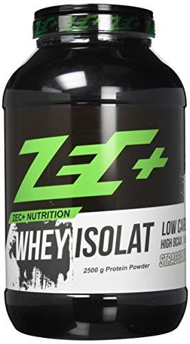 ZEC+ Whey Isolat – 2500 g, fettarmes Eiweißpulver aus reinem Molkenprotein, kalorienarmer Low Carb Protein Shake mit BCAAs & Glutamin, Proteinpulver Geschmack Stracciatella