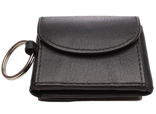 Josephine Osthoff Handtaschen-Manufaktur kleine Mini Jeans Börse Leder schwarz mit Fach für Ihren Einkaufswagenchip