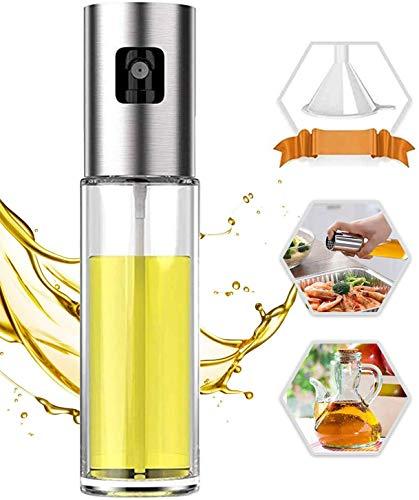 Pulverizador de aceite PUZMUG para cocinar, botella de aceite de 3.4fl oz de vidrio versátil para cocinar, hornear, asar, asar a la parrilla