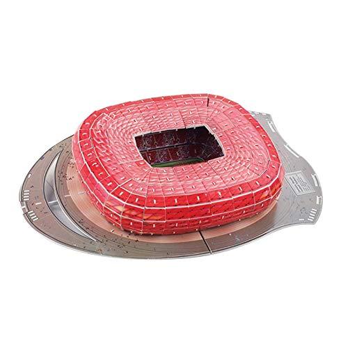Münchner Allianz Arena Stadion 3D Puzzle Stadion Modellbau Kit Für Kinder Erwachsene, Fußballstadion Modell Puzzle, Architektur Gebäude Puzzles, Stadion Panorama Puzzle