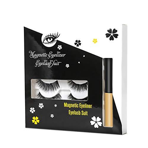 Kit eyeliner magnétique Eyeliner magnétique avec cils magnétiques, lashliner magnétique pour utilisation avec des faux cils magnétiques