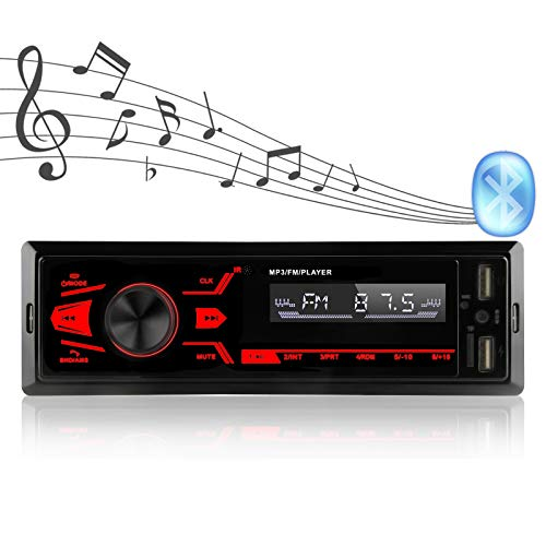 Autoradio, Bluetooth-Freisprecheinrichtung, mit LCD-Anzeige, Unterstützung von USB/TF/AUX / MP3 / Dual-USB/Knopf Auto-Audio-Multimedia-Player, USB-Schnellladung.