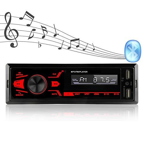 Autoradio, Bluetooth-Freisprecheinrichtung, mit LCD-Anzeige, Unterstützung von USB/TF/AUX / MP3 / Dual-USB/Knopf Auto-Audio-Multimedia-Player, USB-Schnellladung