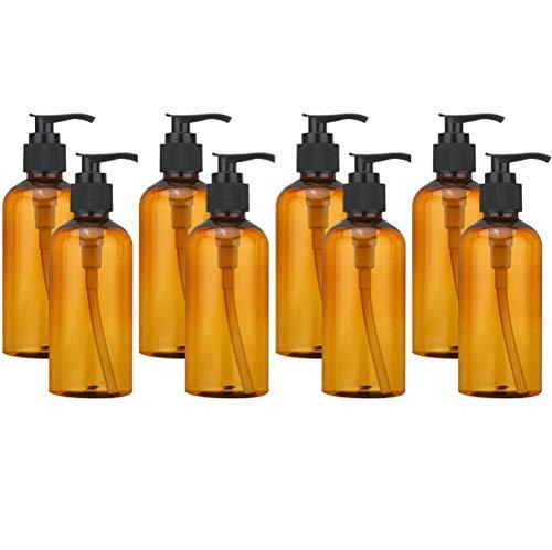 ruiyoupin 100 ml transparant kunststof lotion pomp fles met dispenser shampoo pomp fles, D-8 stuks.