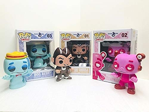 """Funko Ad Icons 3pc 3.75"""" Pop Bundle with Series 1 Count Chocula – Frankenberry - & BooBerry Stacks Pop Protectors"""