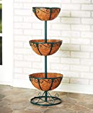 Tiered Planters with Coco Liner, 3- Tier Green