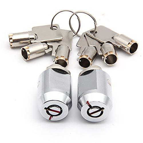 Storage Unit Cylinder Lock - Twin Pack - 2 Locks Keyed Alike - Self Storage Locker