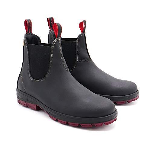 Australian Hobo ENred Boots Stiefel Leder wasserabweisend - Black (Numeric_44)