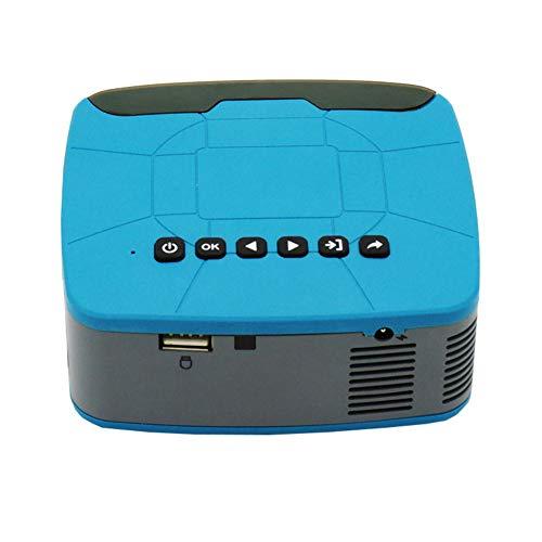 BJGUG El Mini Proyector PortáTil Es Compatible con 1080P HD Dlp Proyector Micro Casero Proyector Al Aire Libre,Blue