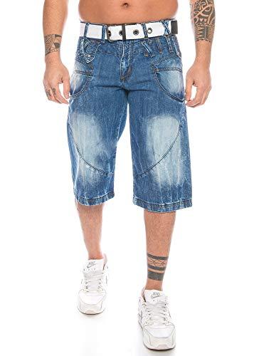 Heren Cargo Shorts Jeans Shorts Biker Style Bleached Shorts Denim Bermuda Capri