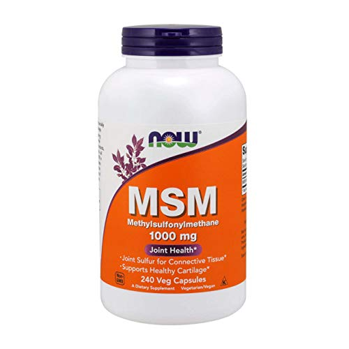 NOW Supplements, MSM (Methylsulfonylmethane) 1,000 mg, Joint Health*, 240 Veg Capsules