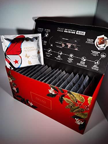 OKLAO Panama Boquete Butterfly Drip Coffee Bag Kaffee 20 Stk. in Geschenkverpackung (20)