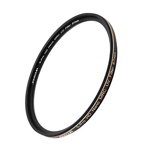 JONGSUN S-Pro HD Nano MRC UV Filter 67mm, 16-Schichten Mehrlagenbeschichtung, Schott B270, Kameras Ultraviolett Schutzfilter Filter