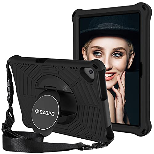 GOZOPO Compatible con Huawei MediaPad T5 10.1 Funda resistente a prueba de golpes para Huawei T5 10.1 pulgadas con correa para el hombro (negro)