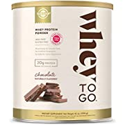 Solgar Whey To Go Whey Protein Powder, Chocolate, 42 oz - Whey Protein Isolate and Concentrate - Mixes Easily for Smooth Taste - Gluten Free - 20g Protein per Serving