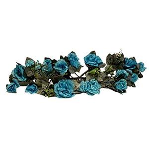 Turquoise Blue Swag Roses Hydrangea Silk Wedding Flowers Gazebo Centerpieces Artificial OSW01