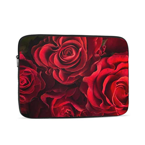 Macbook Air Protective Cover Beautiful Lots of Red Roses Macbookpro Case Multi-Color & Size Choices 10/12/13/15/17 Inch Computer Tablet Briefcase Carrying Bag