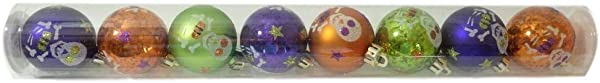 Darice Halloween Skeletons 45mm Plastic Mini Ornament Set Of 8