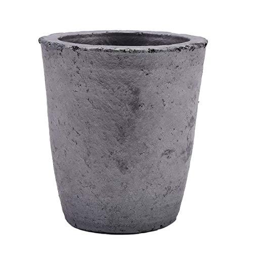 TCATEC 坩堝 750ML 炭化珪黒鉛坩堝 るつぼ 鋳造インゴット 金型 高さ145MM 溶融金属 金 銀 銅など (SIZE 6)