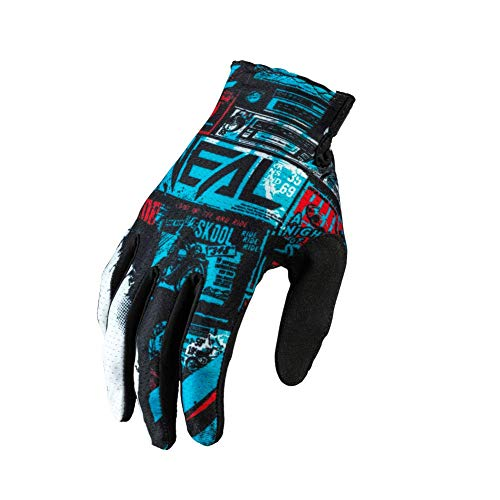 O'NEAL   Handschuh Fahrrad Motocross   MX MTB DH FR Downhill Freeride   Langlebige, Flexible Materialien, belüftete Handoberseite   Matrix Glove   Erwachsene   Schwarz Blau   Größe M