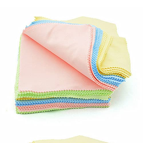 100 Pcs Microfiber Cleaning Cloths for Eyeglasses, Cell Phones, Screens