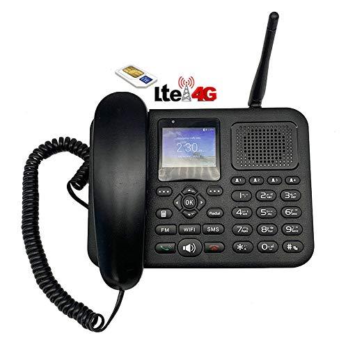Telefono Smartphone 4G LTE per SIM con Router Hotspot WIFI, connessione Bluetooth, VoLTE, Cornetta, Tasti grandi e chiamata rapida, fisso da tavolo per casa ufficio e anziani, sbloccato