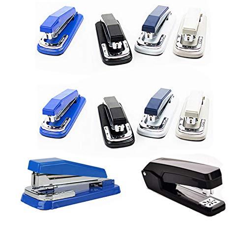 Grapadora de escritorio de 20 hojas de capacidad de grapas rotativas para el cuerpo, la escuela, suministros de oficina, accesorios de escritorio, colores al azar 10 unidades