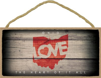 SJT ENTERPRISES, INC. Ohio - State Outline with Love and State Motto 5