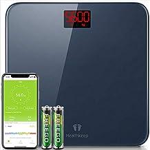 Báscula de Baño Báscula Inteligente Bluetooth Báscula Digital con IMC de Alta Precisión, Monitores de Peso Corporal Maximo...