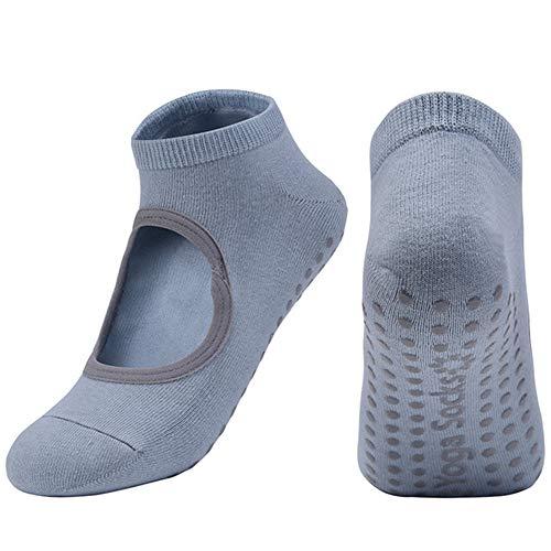 VIWIV Pilates Socken, Atmungsaktive Anti-Friction Silikon Anti-Rutsch Damen Yoga Socken, Geeignet Für Pilates Yoga Bar Sport Tanz Socken Und Strümpfe,2