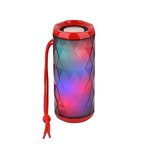 Yi-xir Fashion Design Luces de Colores Bluetooth inalámbrico Tarjeta de Altavoz Bluetooth Portátil Al Aire Libre Portátil Subwoofer Subwoofer Regalos creativos Wireless Portable Travel