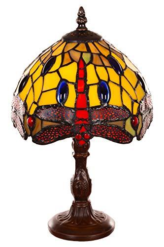 Tiffany Tiff 150 - Lámpara de mesa (8 pulgadas), diseño de libélula