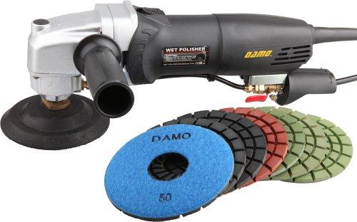 DAMO Variable Speed Stone Polisher 5' Concrete Polisher Grinder Wet Polishing Kit for Concrete Floor Countertop