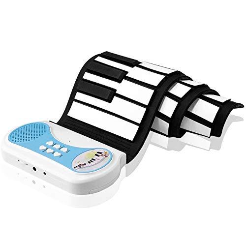DigitalLife 37 Tasten Hand Roll Up Piano mit Lautsprecher Tragbare Faltbare Elektronische Weiche Tastatur - Kind Musik E Piano