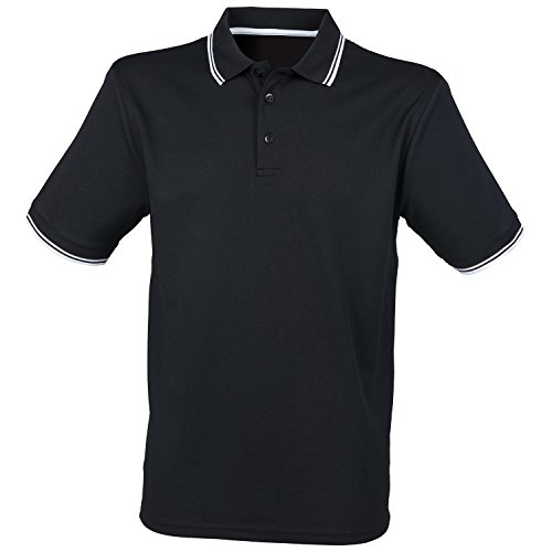Henbury Manches Courtes Coolplus Polo - Royal/White - XL