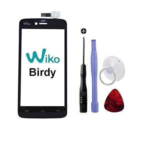 Origineel touchscreen met logo voor Wiko Birdy + dubbelzijdig plakband 3M en gereedschap (verkoop zonder LCD-display)