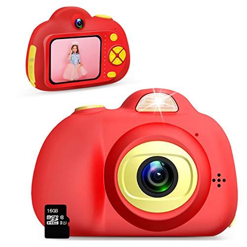 Dreamingbox Geschenke für Mädchen 3 4 5 6 7 8 9 10 Jahre, Kinderkamera 3-10 Jahre Kinder Digitalkamera mit Videofunktion Spielzeug Mädchen 3-12 Jahre Mädchen 3-10 Jahre 16G Kindertag Rot