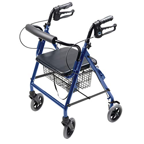 Lumex Walkabout Lite Hemi Rollator with Seat - Low 20