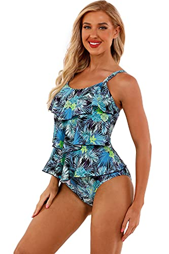 UMIPUBO Traje de Baño en Dos Piezas Bikini Mujer Tankini Vest + Short de Baño Traje Conjunto de Bañador Swimsuit Ropa de Playa