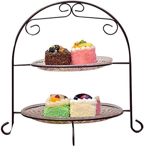 COLiJOL Frutero plato de frutas cesta de frutas plana hecha de hierro forjado multicapa, C,25 x 32 cm