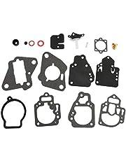 Pestelle Motorcycle Carburetor Rebuild Kit Carburetor Repair Kit for Mercury Marine Replaces 1395-97611 1395-9645 1395-9761