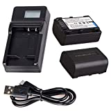 Battery 2 Pack and LCD USB Battery Charger for Sony DEV-3, DEV-5, DEV-30, DEV-50, DEV-50V Digital Recording Binoculars