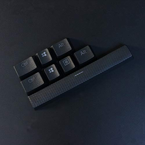 8 Keys PBT Backlit Translucent Keycap Doubleshot OEM Profile for Corsair Strtafe K70 RGB K65 k68 K95 Platinum G710 Gaming Mechanical Keyboards (Black)