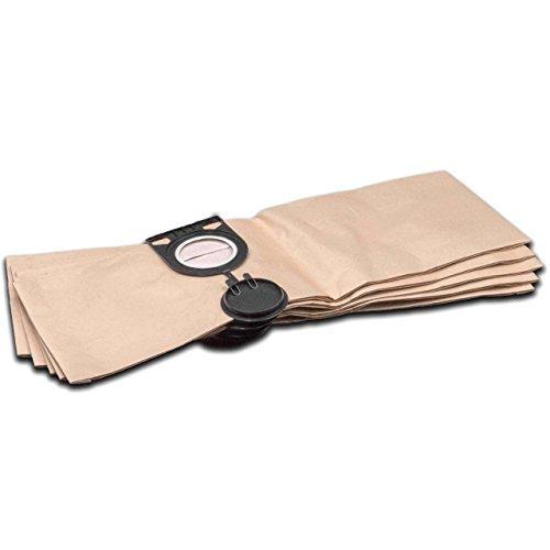vhbw 5 Staubsaugerbeutel Filtertüten aus Papier für Staubsauger Saugroboter Mehrzwecksauger Metabo AS 1200, AS 20 L, ASA 1201