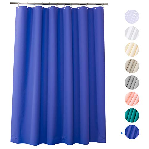 AmazerBath Plastic Shower Curtain, 72' x 72' Blue-Purple EVA 8G Thick Bathroom Shower Curtains with Heavy Duty Clear Stones and Rust-Resistant Grommets Holes