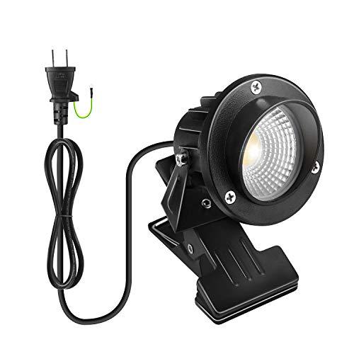 LEDクリップライト 昼白色 防水 7W コード長1.5m 360度回転 エクステリアライト 梅雨対策 看板用 黒板用照明 店舗看板用 PSE認証済み