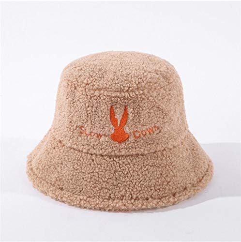 Yhhzw Sombreros De Cubo Bordado Bugs Bunny Pelo De Cordero Sombrero De Cubo Sombreros Clidos De Invierno Tamao 56-58Cm