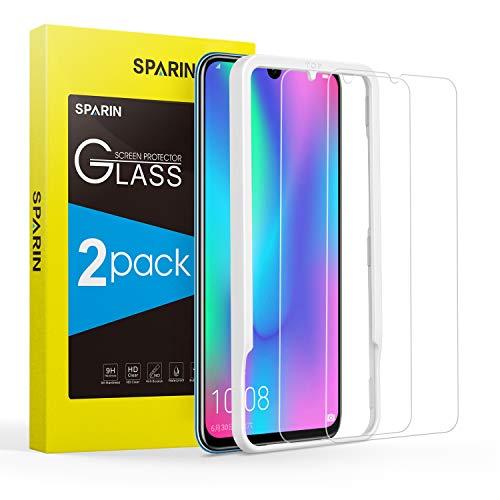 SPARIN [2 Pack] Compatibel met Huawei Honor 10 lite/ Huawei P Smart 2019 Screen Protector, gehard glas schermbeschermer Huawei Honor 10 lite/ P Smart 2019 [Bubble Gratis] [Eenvoudige Installatie] [2.5D Gebogen Rand] [HD Duidelijk]
